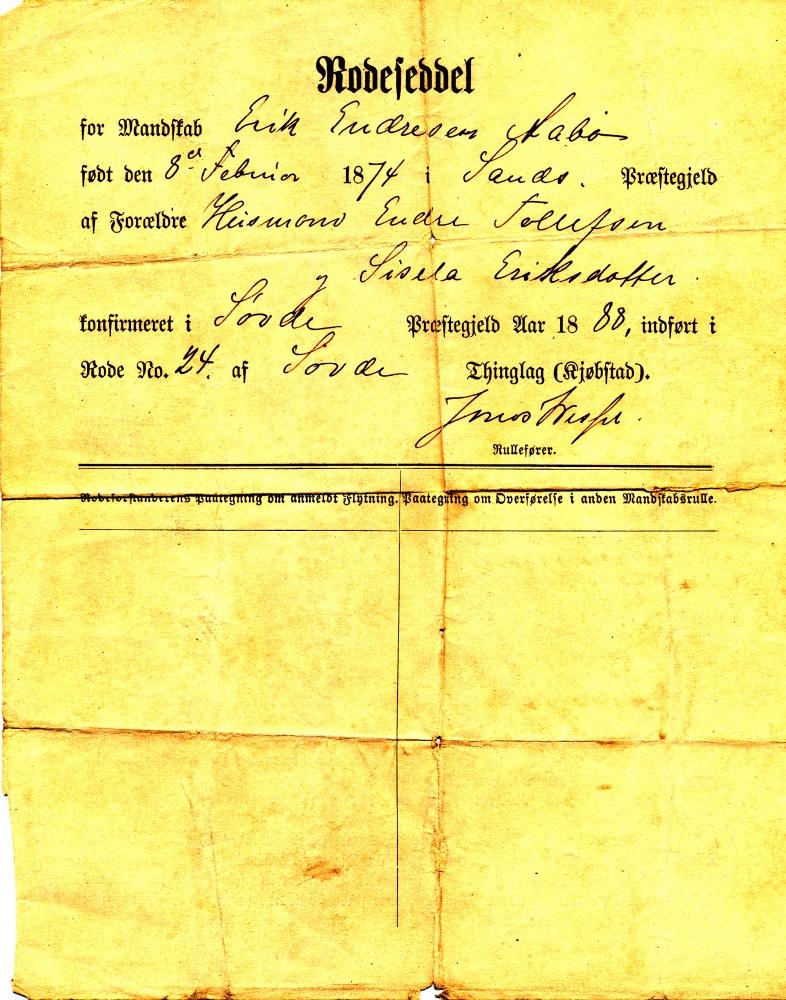 Resultatet av utskrivning/sesjon i 1888