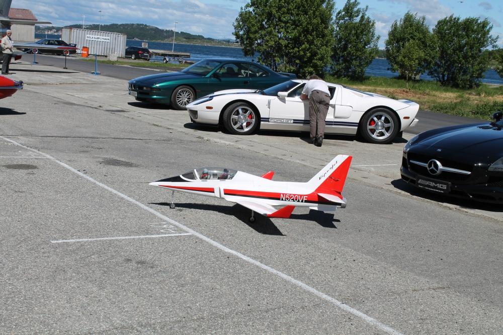 Jet drevet modellfly.