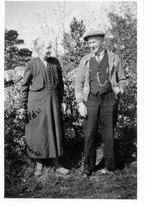 Min mormor og morfar på Sjølvik