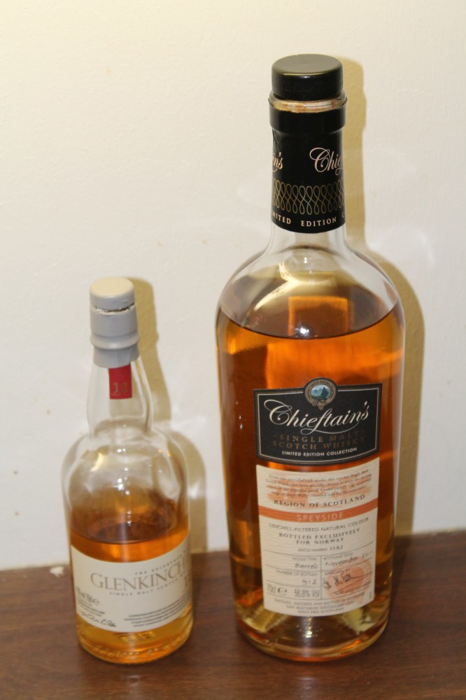 Chieftains single malt og GLENKINCHIE 12 år