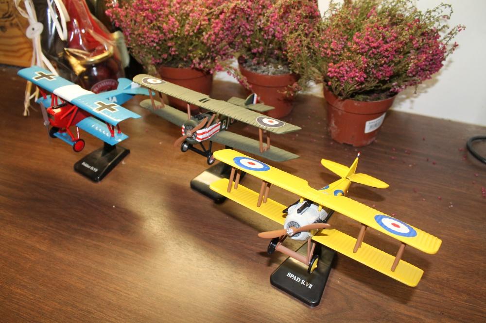 Fokker D.VII,Sopwith Camel   ,Spad S.VII