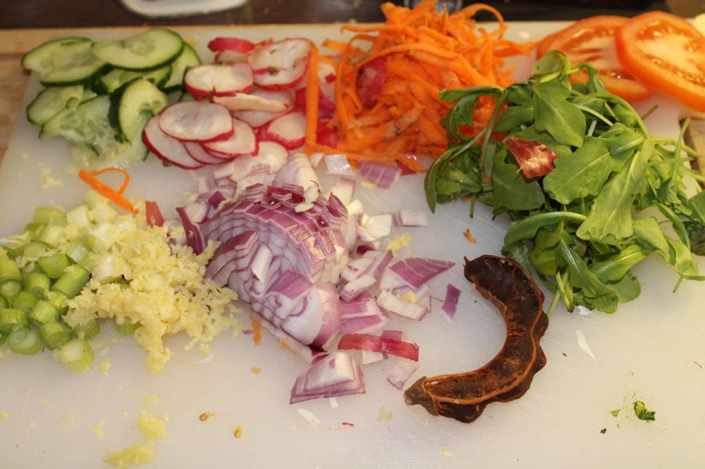 Klargjorte grønnsaker