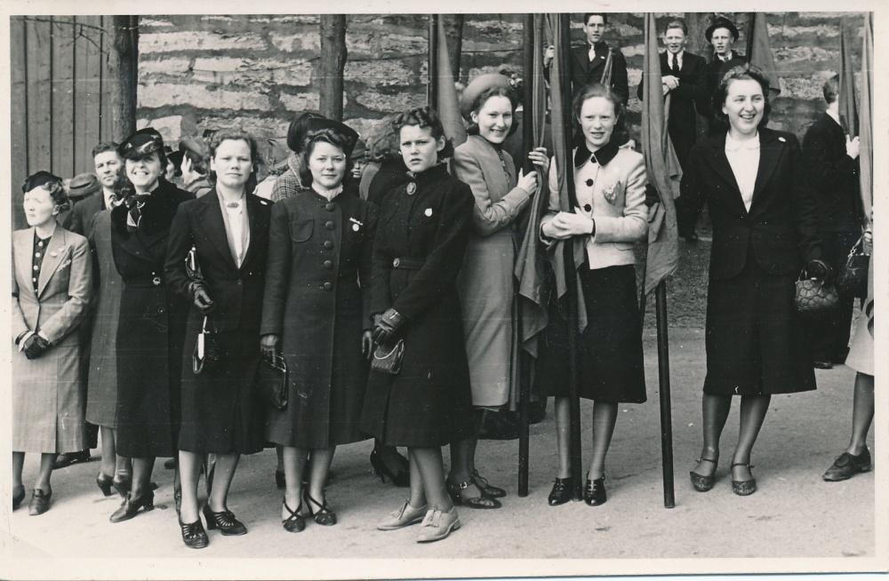 1.mai 1939 Frisinn medlemmer klare for tog.