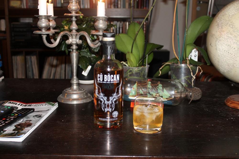 Skal en prøve whisky må en  kose seg.