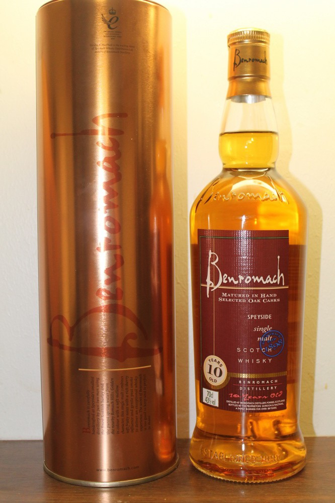 BENROMACH 10 ÅR SPEYSIDE suingle malt BENROMACH DISTILLERY