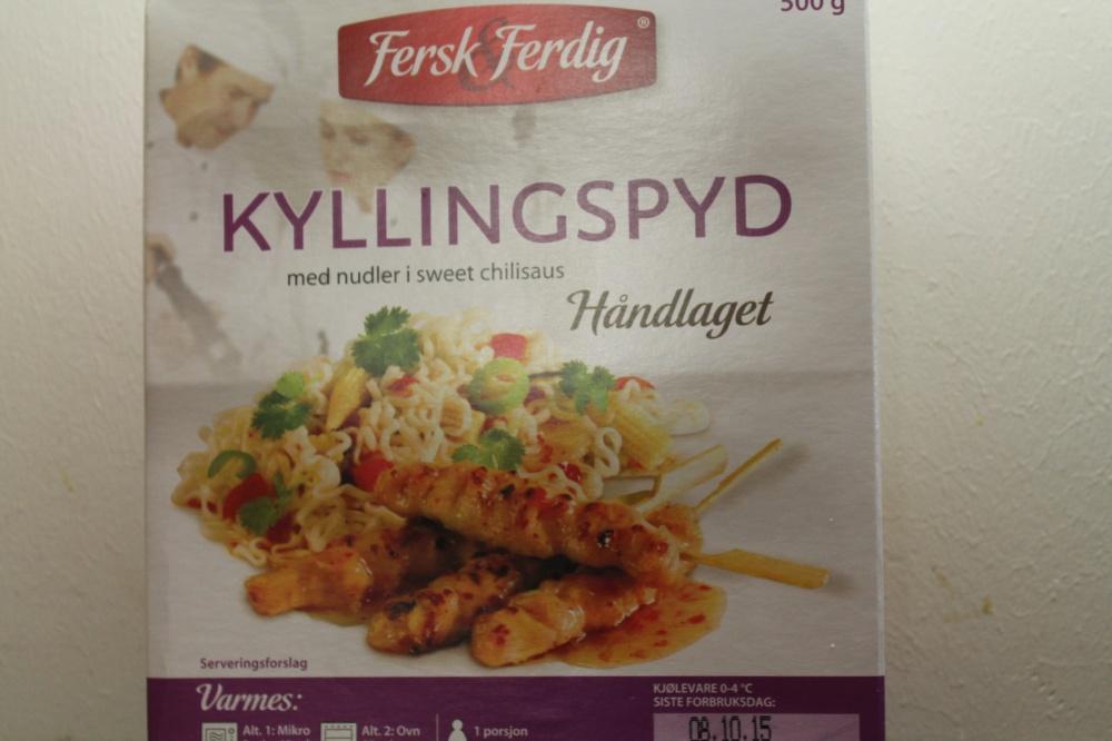 KYLLINGSPYD med nudler i sweet chilisaus