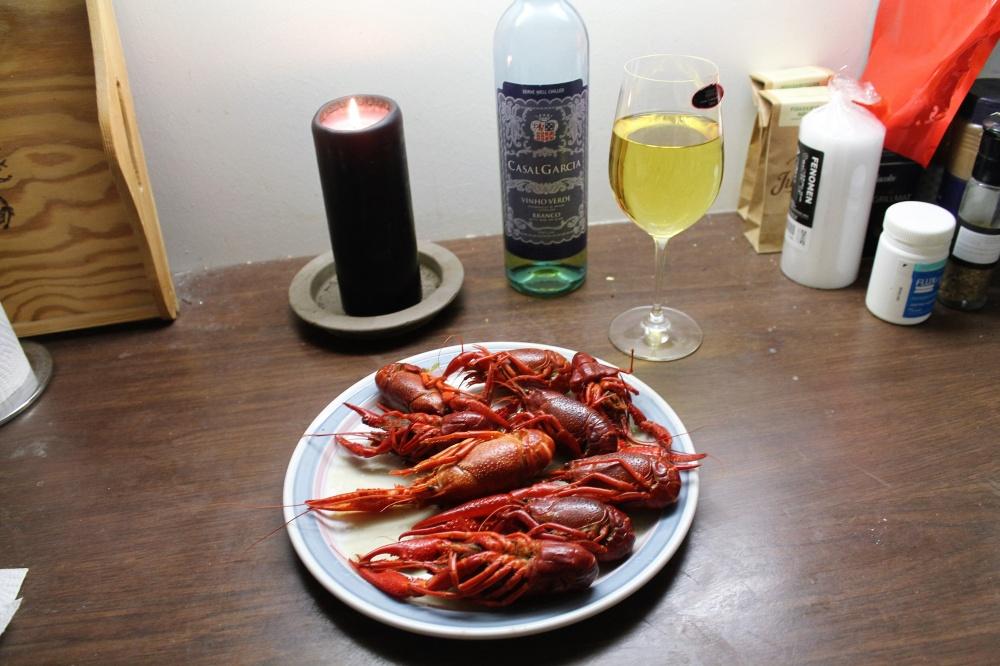 Sjøkreps og hvitvin