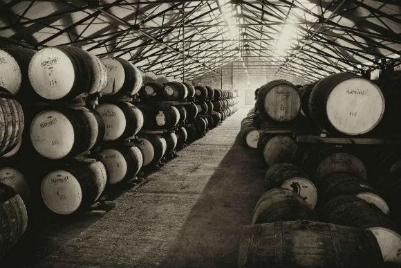Whisky til modning i spanske sherrytønner.